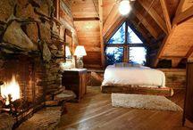 Cabin bedrooms