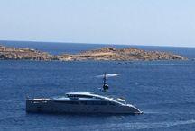 Luxury Yacht Mykonos bay