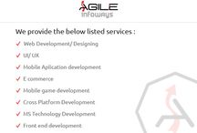 Agile Infoways Pvt Ltd Company Profile / Agile Infoways Pvt Ltd is a Web Development/ Designing and Mobile app development company. Completing 8 years in this industry and with an employee strength of more than 120, Agile Infoways is dedicated to deliver the best web services. / by AgileInfoways.com
