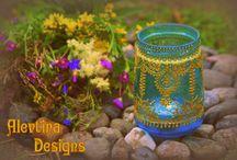 My hand-painted lantern. Мои расписные фонарики\подсвечники / Ручная работа. Handmade
