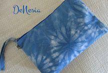 DeNesia Eco-Printing Clutch bags - Shibori Clutch Bags/Pouch
