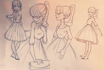 ChD - Young Ladies - Character Design / Teens and twenties