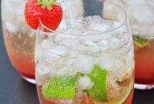 Erdbeeren. Cocktail