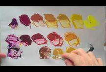 Akryylimaalaus opetusta