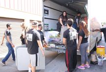 Loading & Unloading our equipment and donations Before/After our monthly event at MacArthur Park