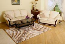 Pokój dzienny / Kolekcja dywanów przeznaczonych do dekoracji pokoju dziennego