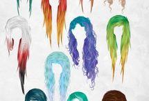Emo hiukset