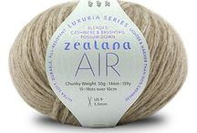 Zealana AIR Chunky / AIR is something extraordinary—an ultra soft, durable, pill-resistant yarn that is lighter and warmer than 100% cashmere. AIR is 40% brushtail possum down combined with 40% cashmere and 20% mulberry silk. AIR is our most luxurious yarn.