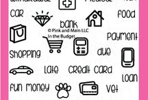 In The Budget / Clear stamp from pinkandmain.com