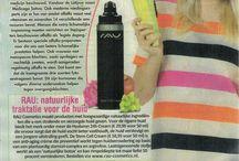 Magazines / RAU Cosmetics in de media