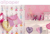 Girls Wallpaper / Stunning girls bedroom and nursery wallpaper from www.4-id-shop.co.uk