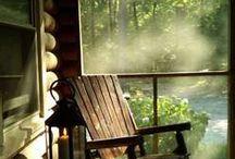 in a cabin .....