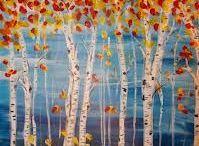 Bomen en paddenstoelen