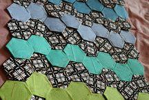 Crochet hexagon motif pattern