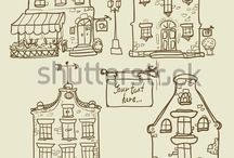 grachtenpanden en (pak)huizen