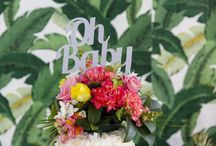 Tropical Styled Events / Baby Shower inspiration  #party #partyideas #balloons #colour #weddinginspiration #partyinspiration #partyideas #baby #cake