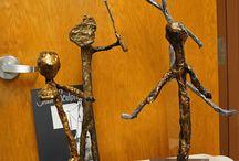 Sculpture from the art class