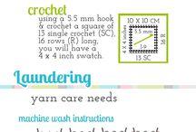 Yarn/Stitch/Hook/Storage Info & Ideas