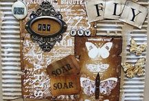 altered art and shadow boxes