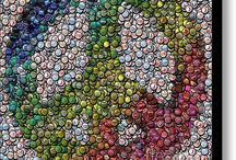 bottle cap art / by Kirstin Harding