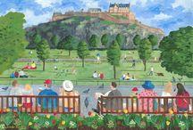 My Edinburgh paintings / Some of my paintings inspired by my home town of Edinburgh.