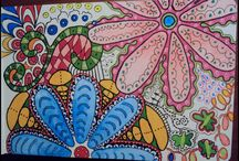 """Dr@W~d0oDle~ZenTaNgLe$ / I have always loved to draw and doodle to pass time.  Now they have an official name for those random doodles I've always liked doing: """"ZENTANGLES""""!  It is so addictive! / by Leah Alanis"""
