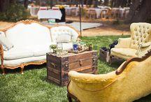 Vintage Wedding Seating Area    Inspiration