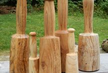 Wood mallet