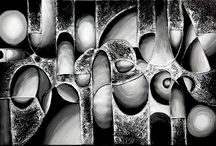 ABSTRACT - BLACK-WHITE