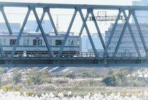 小春日和。 a peaceful day #railway #bridge #fineday #river #odakyuline #鉄橋 #小田急線写真