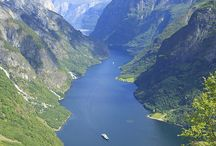 Flam Norway / This board shows the natural beauty in the fjord landscape surrounding Flam, including the UNESCO world heritage fjord.