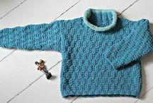 strikket drenge bluse
