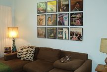 Record Albums as Wall Art