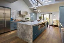 Classic hand painted blue kitchen project / Roundhouse hand painted classic family kitchen