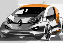 Automobile Design Sketches