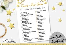 Bridal Shower Products in Gold Stars Theme, Invitations, Games, Decorations And More / Hi, thank you for visiting this beautiful bridal shower board with products in Gold Stars theme. Here, you'll find different invitations, games and activities, decorations and more with over 60 products in this theme.