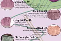 Knitting cast-ons, bind-offs, joining