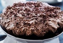 Havregrynskage med chokolade