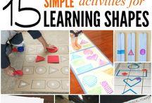 Aprender Figuras Geometricas / Learning Geometric Forms Activities / Ideas y actividades para que los peques reconozcan las formas geométricas