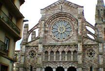 Iglesias, párrocos y procesiones / Fotografía antigua y actual de glesias, párrocos, procesiones, misas, y otros meneresteres