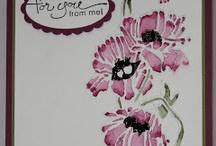 FLOWER garden EMBOSSING folder cards