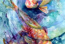Watercolors, malowanie akwarelą
