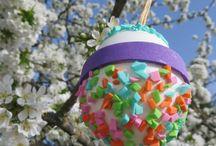 FROHE OSTERN / OooooOoooostereier moosgummi und eier - los geht´s ... der osterhase kann kommen