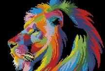 zwierzaki kolorowe