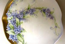 Pintura em porcelana e vidro