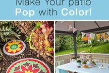 Splash of Color! / Gorgeous outdoor spaces that have a bright punch of color!