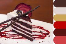 Amaranth, orange, red and cakes