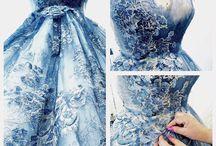 Dziś w naszym Atelier tworzymy Cuda! / Przepiękna błękitna suknia ślubna  juz niedługo ukażemy efekt końcowy baśniowej kreacji...