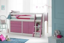 Mid-Sleeper Cabin Beds / Scallywag's Innovative kids beds & furniture. Up to 16 colour options. Designed & manufactured in Yorkshire UK. Starter Beds, Cabin Conversion Kits, Chests of Drawers, Cupboards & Shelving. Ideal for space-saving in small bedrooms