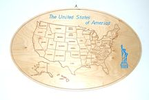 MAPPE/MAPS / wooden maps
